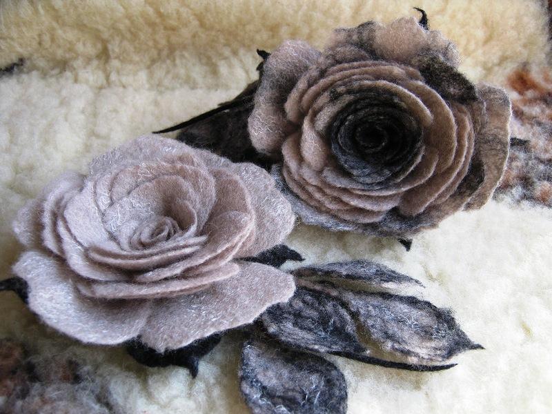 Валяние из шерсти мокрое цветы