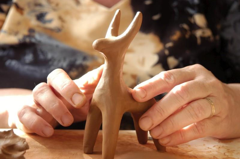 Игрушки из глины мастер класс